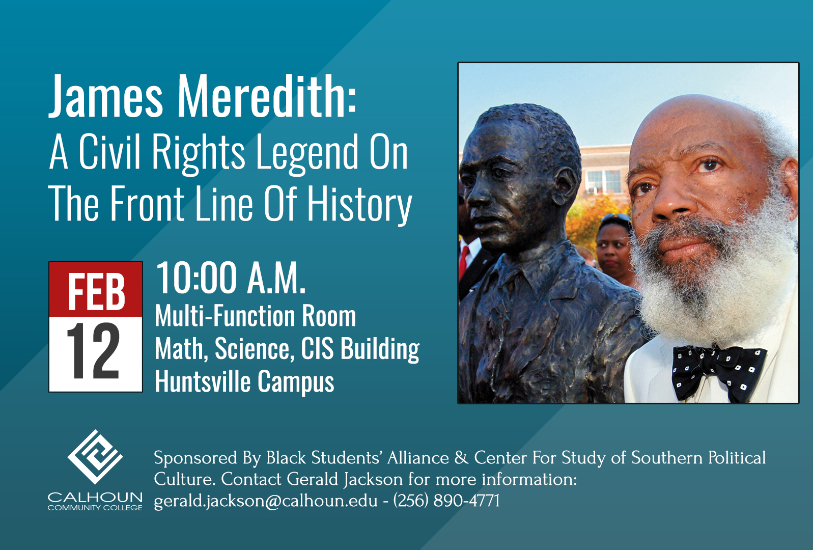 James Meredith event Graphic